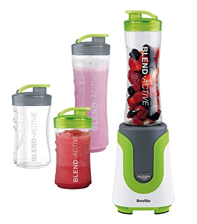 Breville VBL096 Blend-Active Personal Blender Family Pack - White/Green - Home & Living