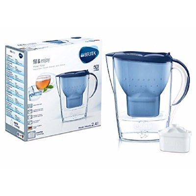 Brita Marella 2.4L Water Jug with 1 Maxtra Filter (Navy Blue) - Water Filters