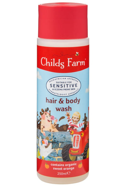Childs Farm Hair and Body Wash Organic Sweet Orange, 250ml - Skincare