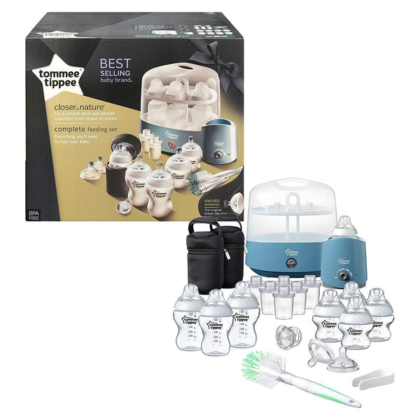Tommee Tippee Closer to Nature Complete Feeding Set, Blue -