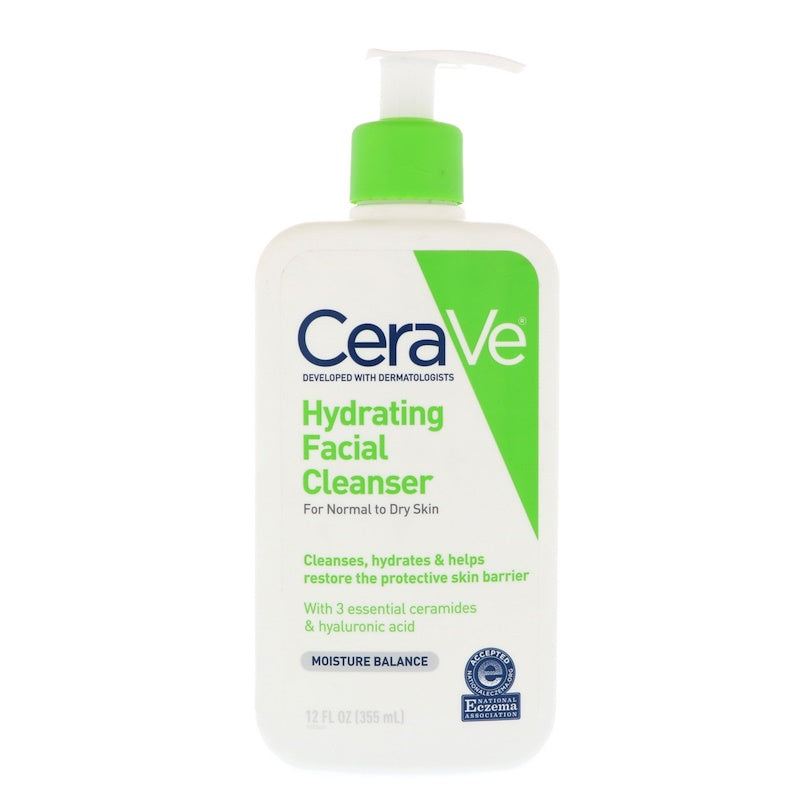 Cerave Hydrating Facial Cleanser 12 fl oz (355 ml) - Skincare