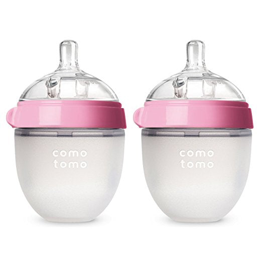 Como tomo Baby Bottle 8 Ounce - 2 Count (Pink) - Mother Baby & Kids
