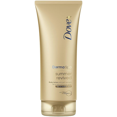 Dove DermaSpa Summer Revived Fair to Medium Gradual Self Tan 200ml - Skincare