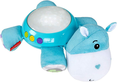 Fisher-Price CGN86 Hippo Plush Projection Soother, New-Born Soft Light Projector White Noise Toy -