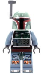 LEGO Star Wars 9003530 Boba Fett Kids Minifigure Light Up Alarm Clock | green/blue | plastic | 9.5 inches tall | LCD display | boy girl | official - Toys