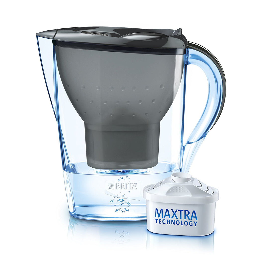 Brita Marella 2.4L Water Jug with 1 Maxtra Filter (Graphite Black) - Water Filters