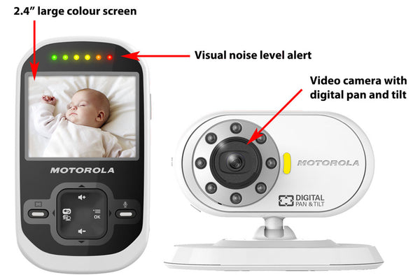 "Motorola MBP26 Digital Video Camera Baby Monitor Set with 2.4"" Colour LCD Screen Baby Monitor - Mother Baby & Kids"