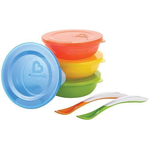 Munchkin Love a Bowls, 10 Piece Bowl and Spoon Set -