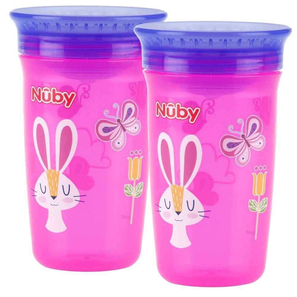 Nuby 360 Degree No Spill Cup Maxi Pack Of 2 Girl