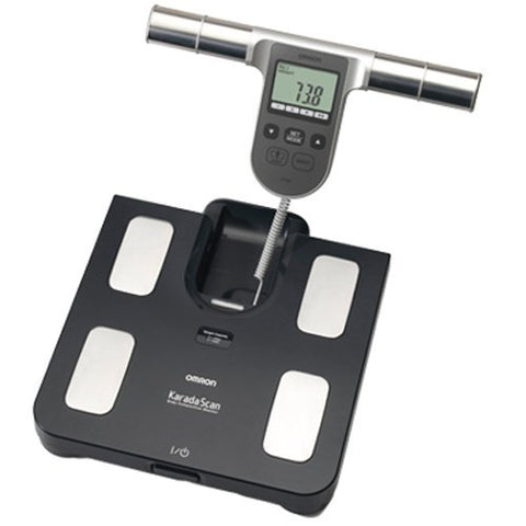 Omron BF508 Body Composition and Body Fat Monitor Bathroom Scale (Black) - Healthcare