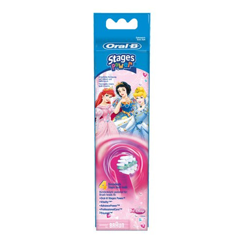 Oral-B Stages Power Princess Brush Heads (4 pack) - Dentalcare