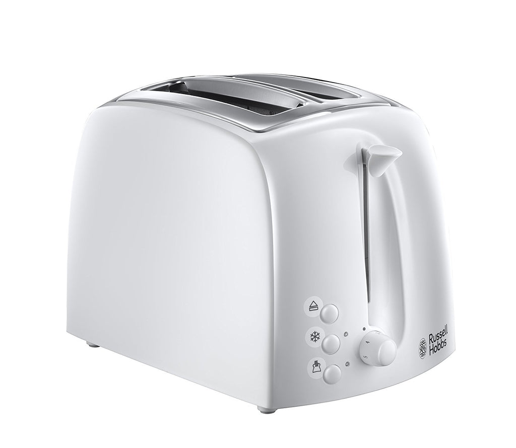 Russell Hobbs Textures 2-Slice Toaster 21640 - White - Home & Living