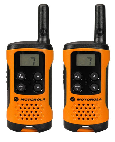 Motorola Talker T41 2 Way Walkie Talkie Radio (Orange) (Pack of 2) - Walkie Talkies & Phones