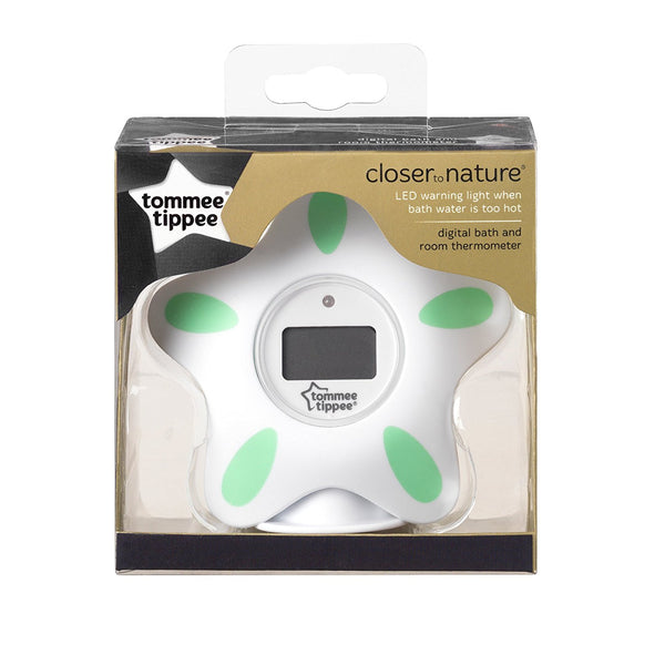 Tommee Tippee Closer to Nature Bath and Room Thermometer (White) - Mother Baby & Kids