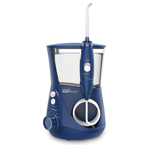Waterpik WP-663UK Ultra Professional Water Flosser - Blue Edition (UK 2-Pin Bathroom Plug)