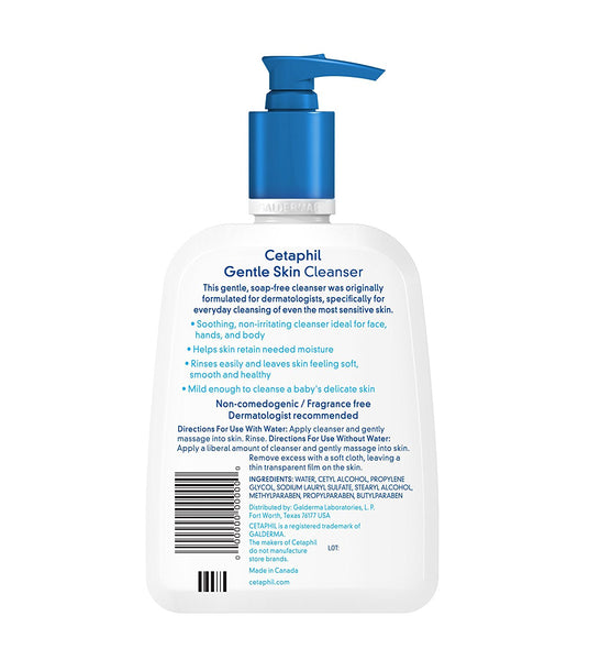 Cetaphil Gentle Skin Cleanser, For All Skin, 16once Bottles (3 Counts) - Skincare