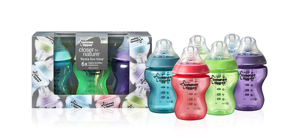 Tommee Tippee CTN Fiesta Fun Time 260mlx6 0m+ Type 1 - Mother Baby & Kids