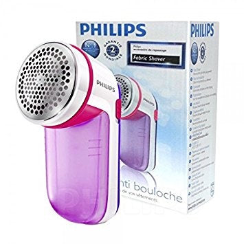 Philips GC026/30 Fabric Shaver (White/Purple) - Home & Living