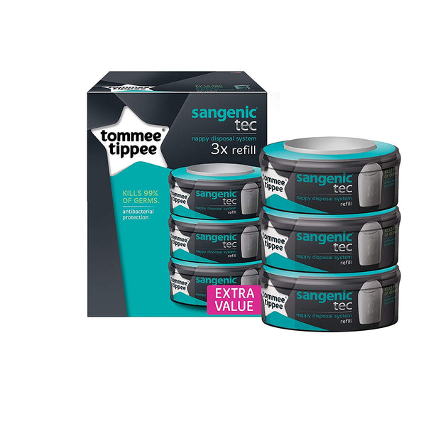 Tommee Tippee Sangenic Tec Refill Cassettes, Pack of 3 (Packaging May Vary) - Mother Baby & Kids