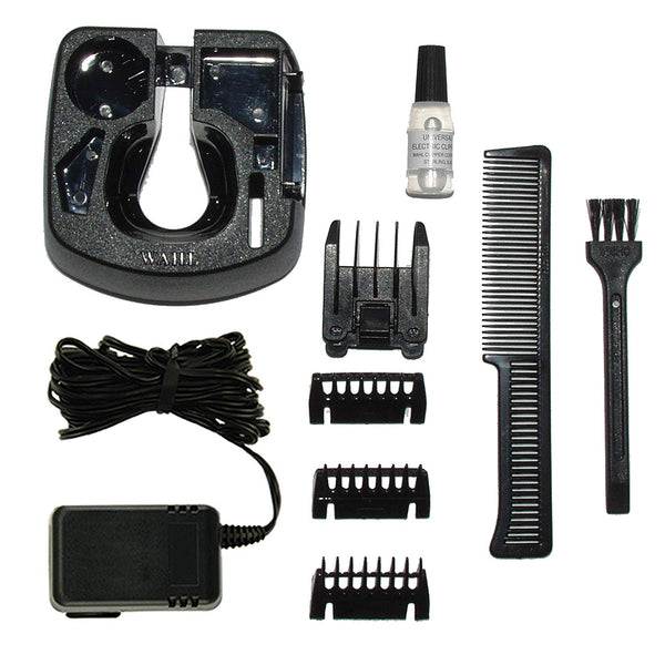Wahl 9916-1117 Groomsman Rechargeable Hair, Beard and Moustache Trimmer Set, Black/Silver - Personal Grooming