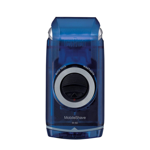 Braun MobileShave M-60b Portable Electric Shaver, Blue - Personal Grooming