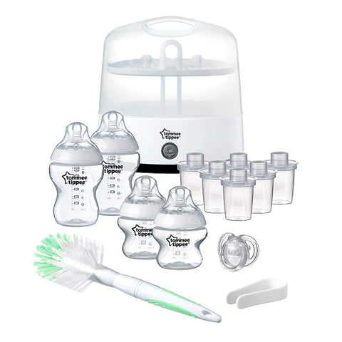 Tommee Tippee Closer to Nature Electric Sterilizer Starter Kit (Packaging may Vary)