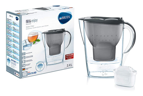 Brita Marella 2.4L Water Filter Jug with 1 Maxtra+ (Graphite) - Water Filters