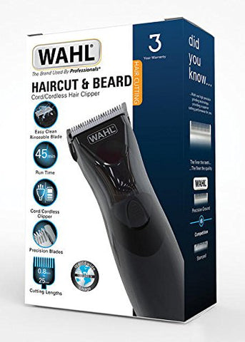 Wahl Haircut & Beard Cord/Cordless Hair Clipper 9639-1217