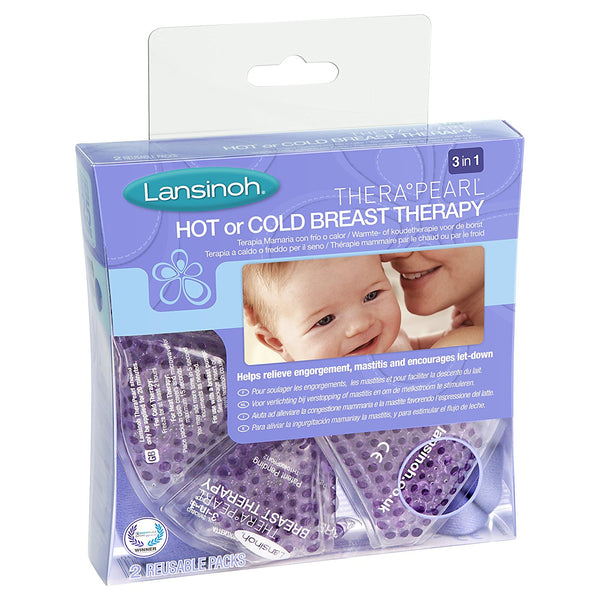Lansinoh TheraPearl 3-in-1 Breast Therapy Pack, Hot or Cold use - Mother Baby & Kids