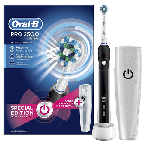Oral-B Pro 2500 Electric Rechargeable Toothbrush - Black (Packaging May Vary)  - Dentalcare
