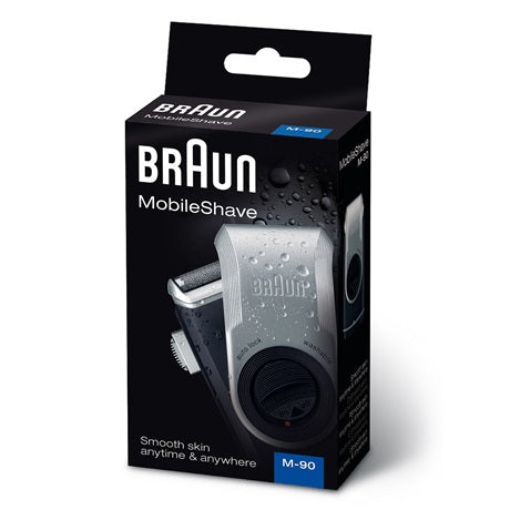 Braun MobileShave M-90 Portable Electric Shaver, Black/Silver - Personal Grooming