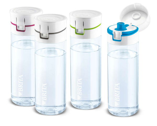 Brita Fill&Go Water Filter Bottle with 4 Filter Discs (Blue/Green/Grey/Pink) - Water Filters