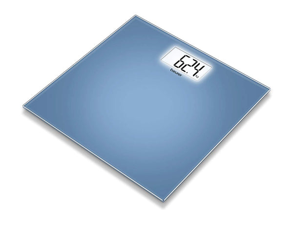 Beurer GS 208 Glass Bathroom Scale, Blue -