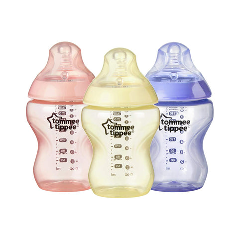 Tommee Tippee Colour My World Feeding Bottles 260ml - Girl (3 Pack) - Mother Baby & Kids