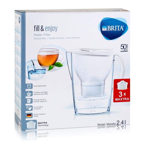 Brita Marella Cool Water Filter Jug with 3 Maxtra (White) - Water Filters