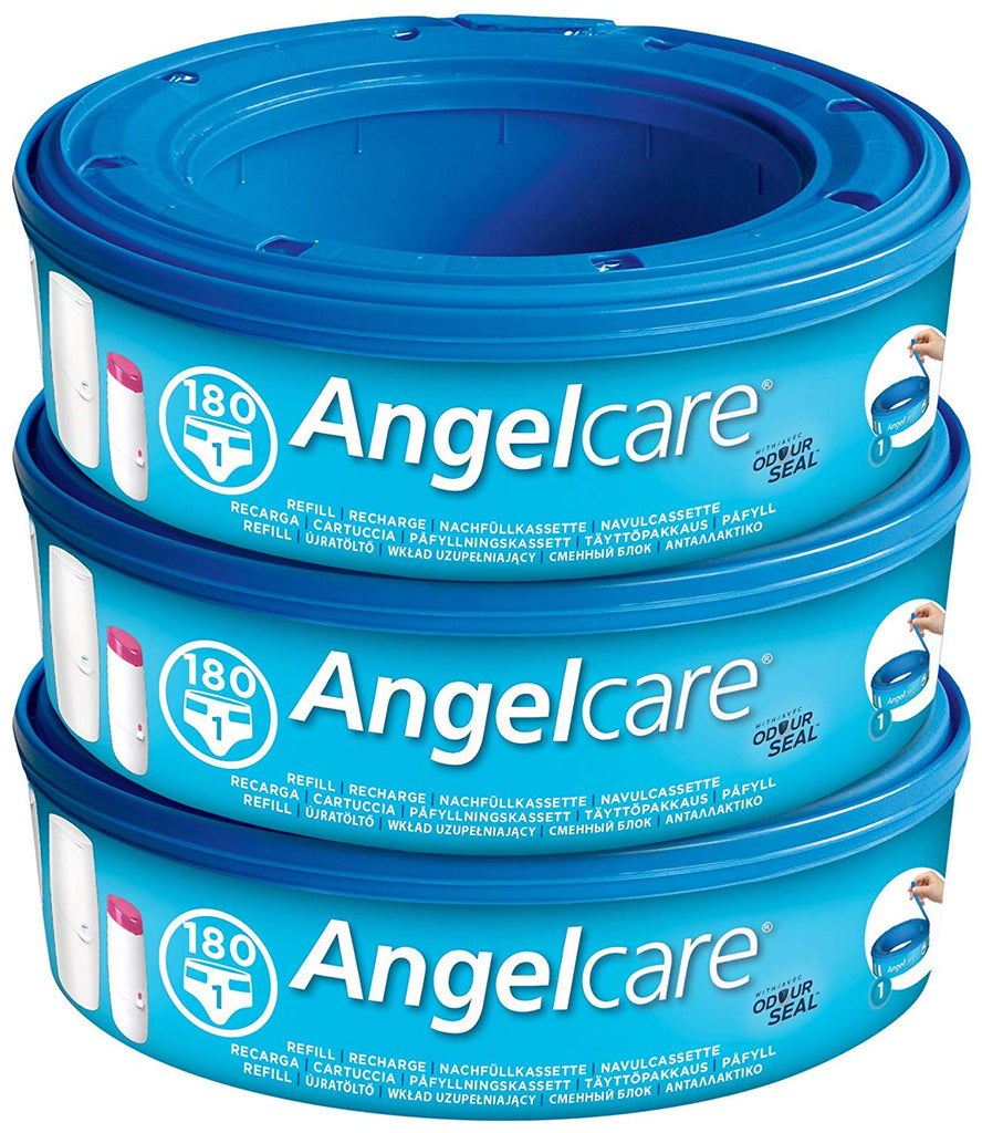 Angelcare Nappy Disposal System Refill Cassettes - Pack of 3 - Mother Baby & Kids