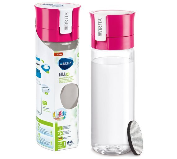 Brita Fill and Go Vital Bottle (Pink) - Water Filters