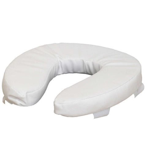 "NRS Healthcare Soft Padded Raised Toilet / Commode Seat - 50mm (2"")"