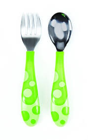 Munchkin Toddler Fork and Spoon Set (colors may vary) - Mother Baby & Kids