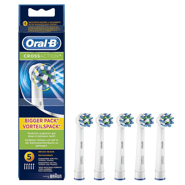 Oral-B Cross Action Electric Replacement Toothbrush Heads (pack of 5)
