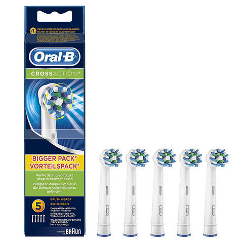 Oral-B CrossAction Replacement Brush Heads - Pack of 5 - Dentalcare