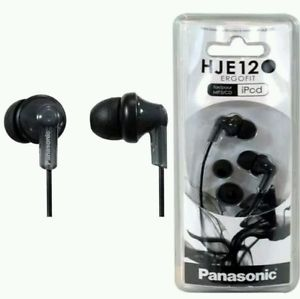 Panasonic RP-HJE120-PPK In-Ear Headphone (Black) - Home & Living