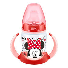 NUK First Choice Disney Mickey & Minnie 150ml Learner Cup 6-18 mo. (Pink) - Mother Baby & Kids