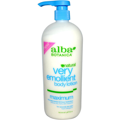 Alba Botanica Very Emollient Body Lotion, Maximum, 32ounce - Skincare