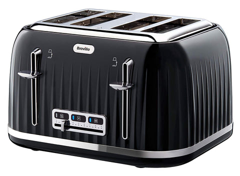 Breville VTT476 Impressions 4 Slice Toaster - Black - Home and Living