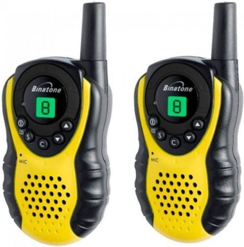 Binatone Latitude 100 Twin Pack Walkie Talkie (Two-Way Radios) 3m/5km Range (For export only) - Walkie Talkies & Phones