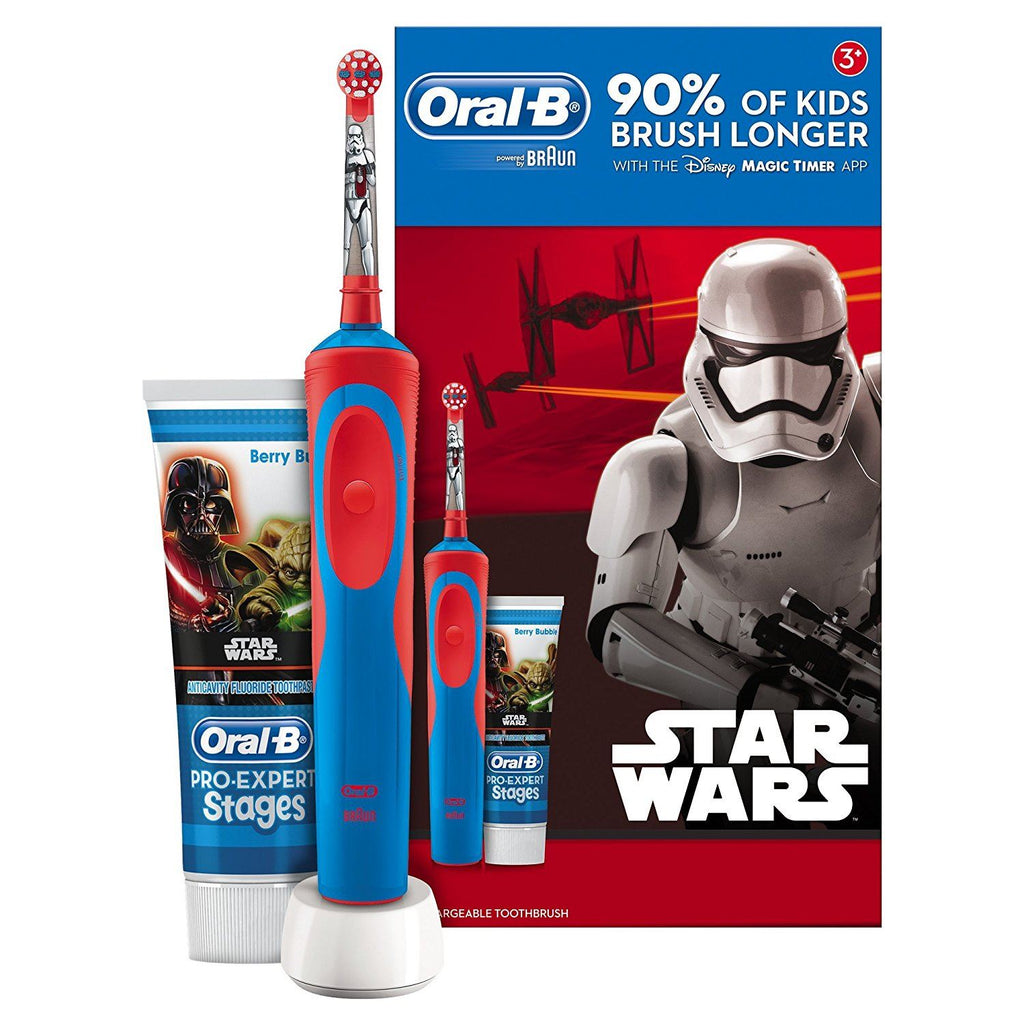 Oral-B Stages Power Kids Electric Toothbrush + Toothpaste Star Wars Gift Set - Dentalcare