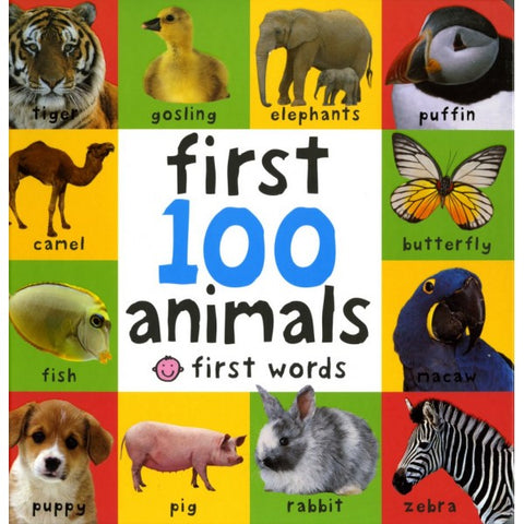 First 100 Animals Board book - Mother Baby & Kids