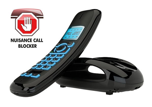 iDect Solo Plus Dect Phone with Call Blocker - Single (Black) - Walkie Talkies & Phones