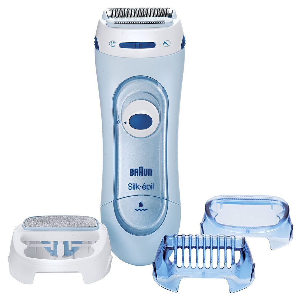 Braun Silk Epil LS5160 Lady Shaver - Wet & Dry Cordless Electric Hair Removal Razor and Bikini Trimmer for Women - Personal Grooming